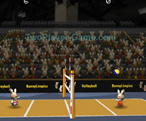 2012 BunnyLimpics Volleyball, 2 player games, Play 2012 BunnyLimpics Volleyball Game at twoplayer-game.com.,Play online free game.