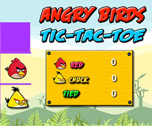 Angry Birds Tic-Tac-Toe, 2 player games, Play Angry Birds Tic-Tac-Toe Game at twoplayer-game.com.,Play online free game.