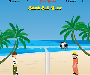 Beach Ball, 2 player Naruto game, Play Beach Ball Game at twoplayer-game.com.,Play online free game.