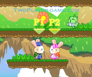 Bubble Rabbit 2, 2 player rabbit game, Play Bubble Rabbit 2 Game at twoplayer-game.com.,Play online free game.