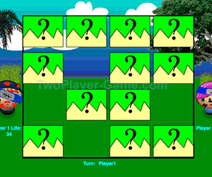 Concentration Battle, 2 player games, Play Concentration Battle Game at twoplayer-game.com.,Play online free game.