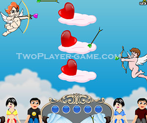 Cupid's Challenge, 2 player games, Play Cupid's Challenge Game at twoplayer-game.com.,Play online free game.