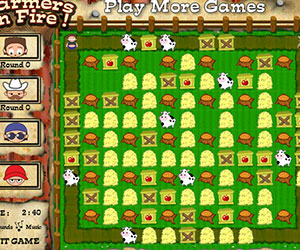 Farmers On Fire, 2 player Farmers game, Play Farmers On Fire Game at twoplayer-game.com.,Play online free game.