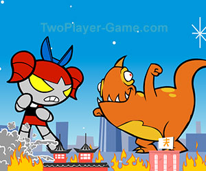 Godzilla fight, 2 player games, Play Godzilla fight Game at twoplayer-game.com.,Play online free game.