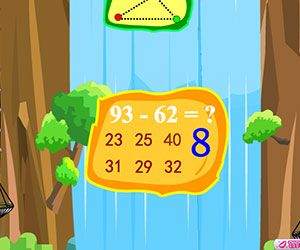 Jungle Brain, 2 player Math games, Play  Jungle Brain Game at twoplayer-game.com.,Play online free game.