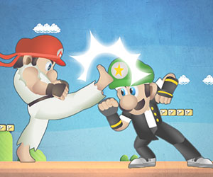 Mario Street Fight, 2 player games, Play Mario Street Fight Game at twoplayer-game.com.,Play online free game.