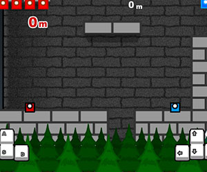 Mighty Tower, 2 player jump game, Play Mighty Tower Game at twoplayer-game.com.,Play online free game.