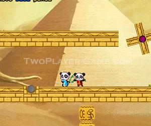 Pandas in the Desert, 2 player games, Play Pandas in the Desert Game at twoplayer-game.com.,Play online free game.