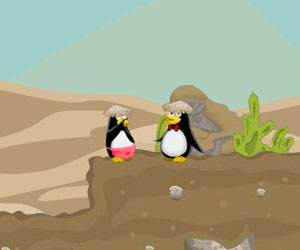 Penguin Couple Adventure, 2 player penguin game, Play Penguin Couple Adventure Game at twoplayer-game.com.,Play online free game.