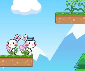 Rainbow Rabbit 2, 2 player rabbit game, Play Rainbow Rabbit 2 Game at twoplayer-game.com.,Play online free game.