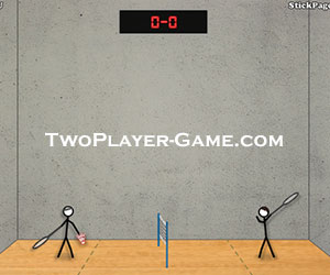 Stick Figure Badminton, 2 player games, Play Stick Figure Badminton Game at twoplayer-game.com.,Play online free game.