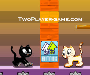 Swing Cat, 2 player cat game, Play Swing Cat Game at twoplayer-game.com.,Play online free game.